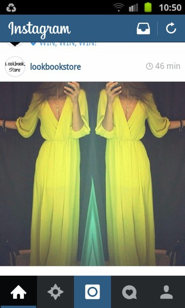 dress yellow dress long dress