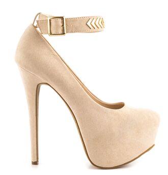 shoes nude heels heels nude and gold heels arrow heels ankle strap heels closed toe heels