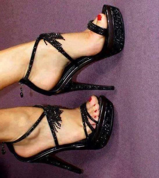 shoes black high heels black heels