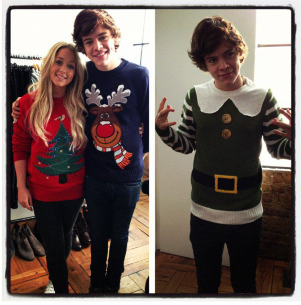 sweater harry styles hipster christmas sweatshirt winter sweater winter sweater winter outfits