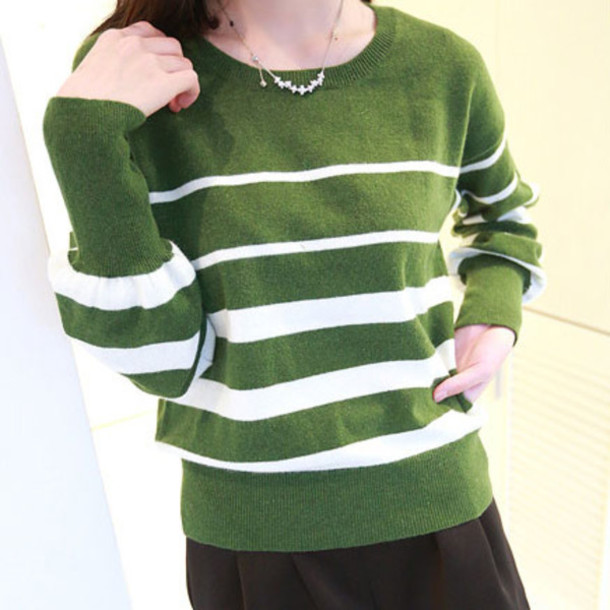 sweater mixing color leisure