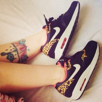 shoes nike nike air nike shoes nike trainers air max leopard print leopard nikes nike leopard print trainers black black and leopard cute white sneakers