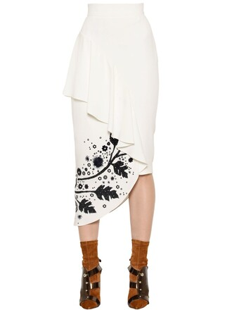 skirt pencil skirt white black