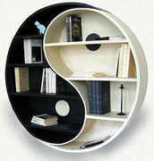 bag,book case,home accessory,black and white,home decor,yin yang,book shelve