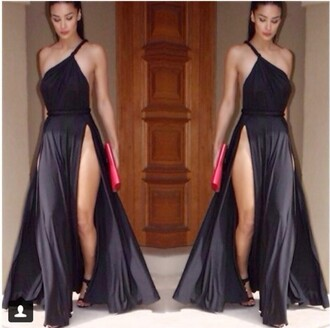 sexy dress slit dress black dress maxi dress long dress