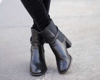 shoes black booties low boots boots chaussures