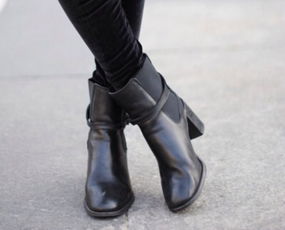boots low boots chaussures shoes black booties