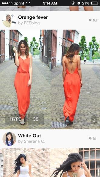 cute dress orange dress orange maxi dress cut-out dress