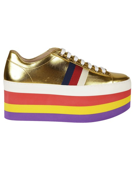 gucci metallic sneakers platform sneakers shoes