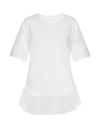t-shirt shirt short lace white top