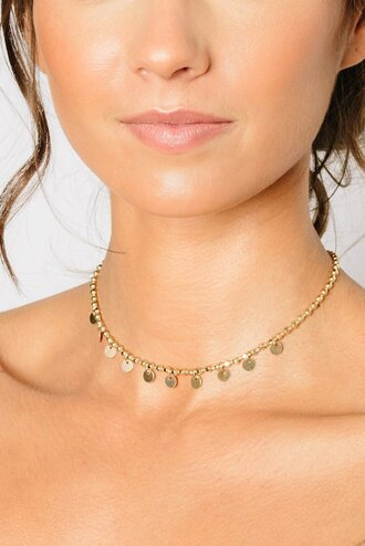 jewels choker necklace gold choker tess and tricia fashionista jewelry