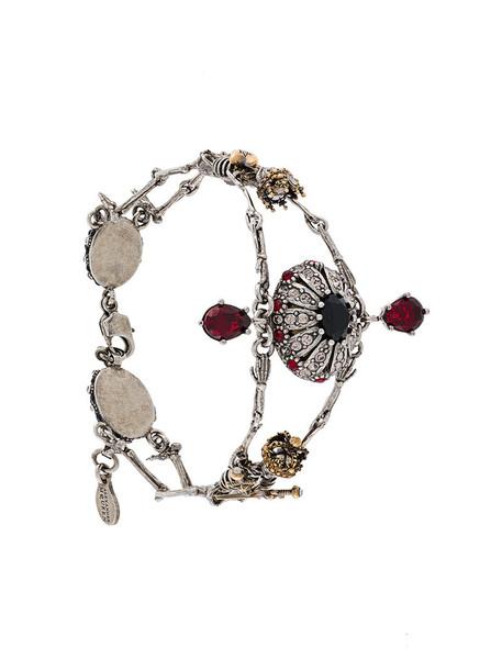 Alexander Mcqueen women embellished bee grey jewels