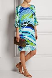 new,emilio pucci,print dress,women print dress,jersey dress,silk dress,pink hat,clutch,montecarlo