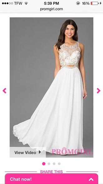 dress white dress prom dress long prom dress