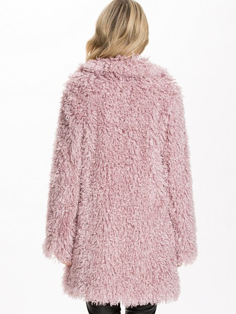 Defur Coat - Unreal Fur - Dusty Pink - Jackets And Coats - Clothing - Women - Nelly.com Uk