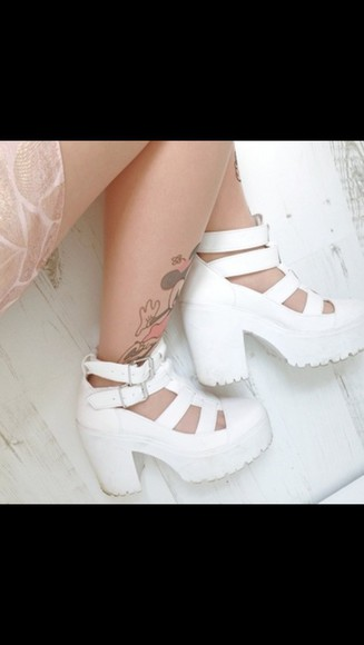 shoes style white chunky sole