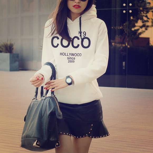 White Hoodie - White Super-Soft CoCo Hollywood Inspired | UsTrendy