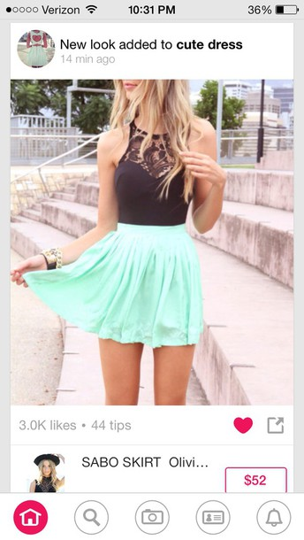 skirt minty skirt top black top summer dress lace top beautiful blouse dress shirt
