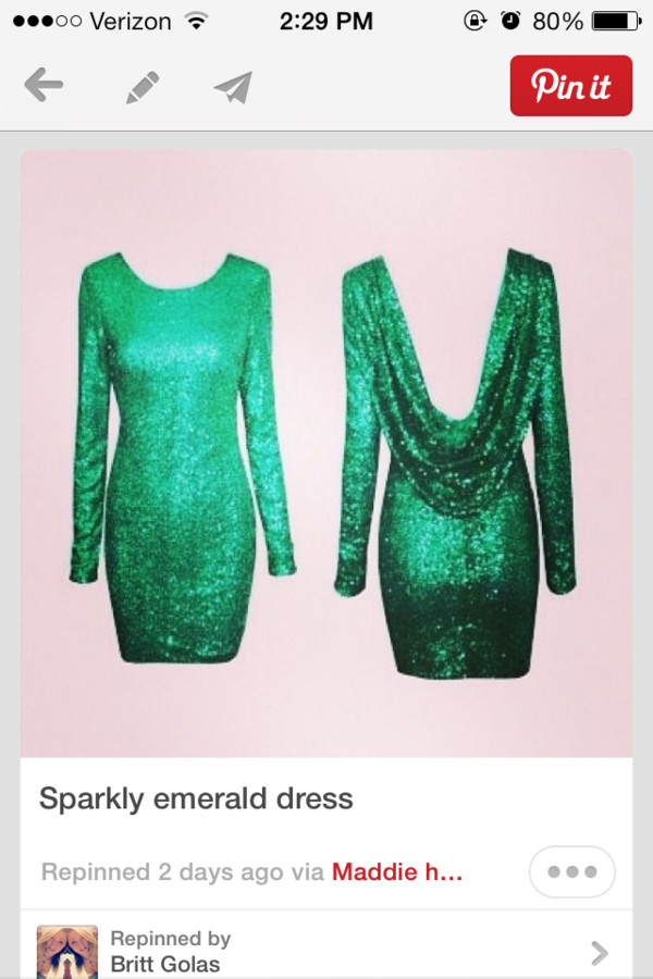 dress green dress glitter dress open back dresses