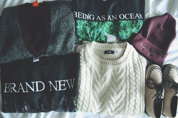 sweater brand new indie jumper warm warm sweater being as an ocean pop punk vans warped tour shoes hipster creepers