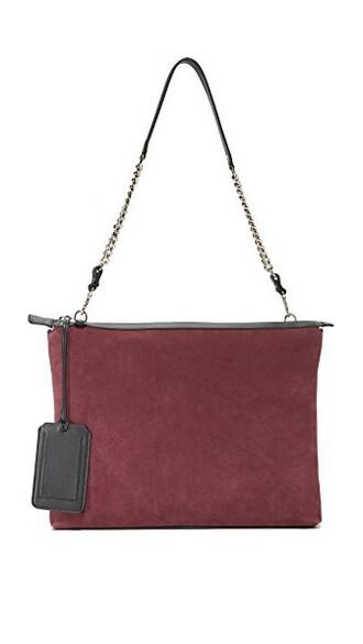 pouch burgundy bag