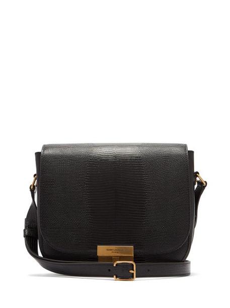 satchel snake leather black bag