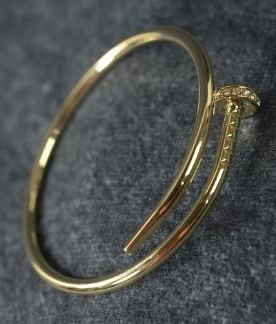 Crystal Nail Bangle Bracelet