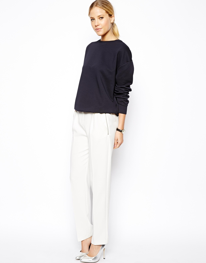 ASOS Luxe Trousers In Slouch Fit at asos.com