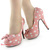 New Ladies Womens Polka Dots Bow Evening Stiletto Platform High Heel Pumps | eBay