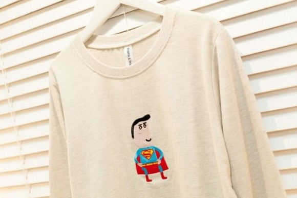 sweater superman winter sweater funny sweaters