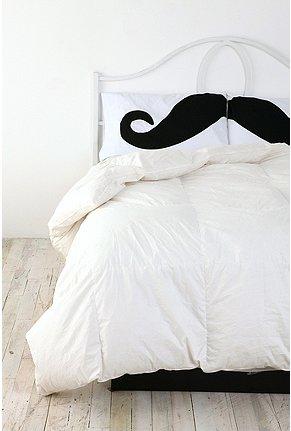 Mustache pillowcase set
