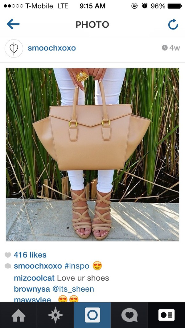 bag nude shoes sandals