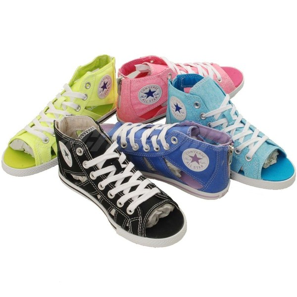 shoes converse pink sandals blue neon yellow converse