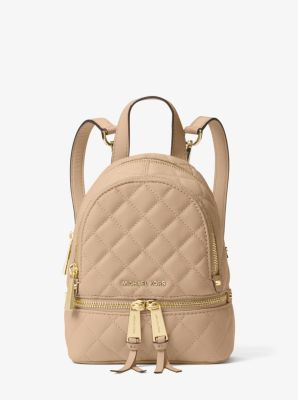 Rhea Extra-Small Quilted-Leather Backpack | Michael Kors