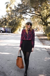 steffy's pros and cons,blogger,shirt,skirt,hat,bag