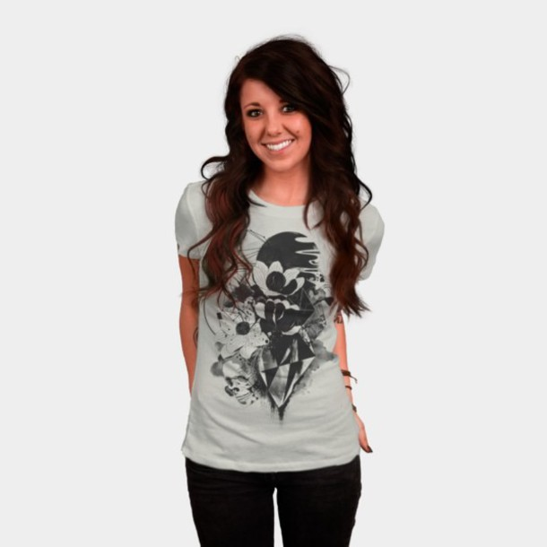 shirt skulls and flowers watercolor surrealism skull women's t-shirt mens t-shirt geometric print shirt geometric geometric design abstract print abstract shirt graphic tee one color