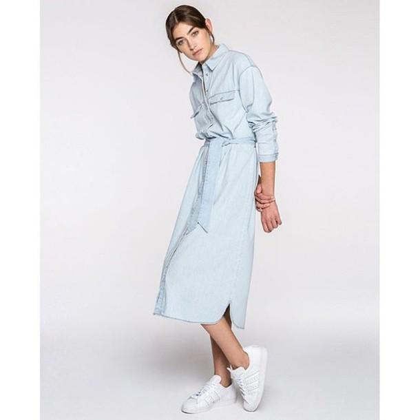 Dress The Fifth Light The Way Denim Shirt Dress Denim Dress Denim Modern Minimal Denim