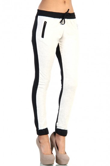 Colorblocked knit joggers
