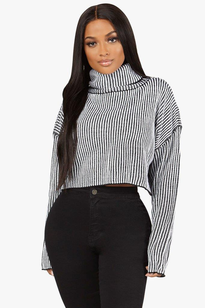 Old News Cropped Sweater