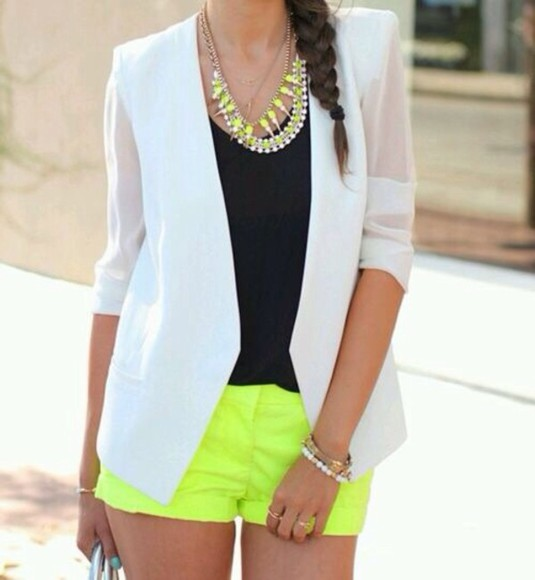 white blazer jacket