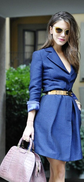 dress blue dress belt