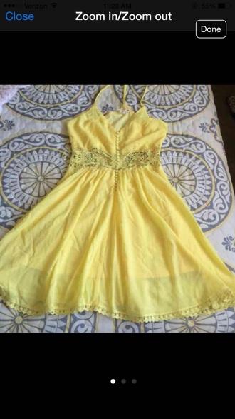 dress yellow dress sundress
