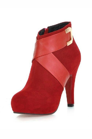 Round Toe Belted Boot [FABI1276]- US$52.99 - PersunMall.com