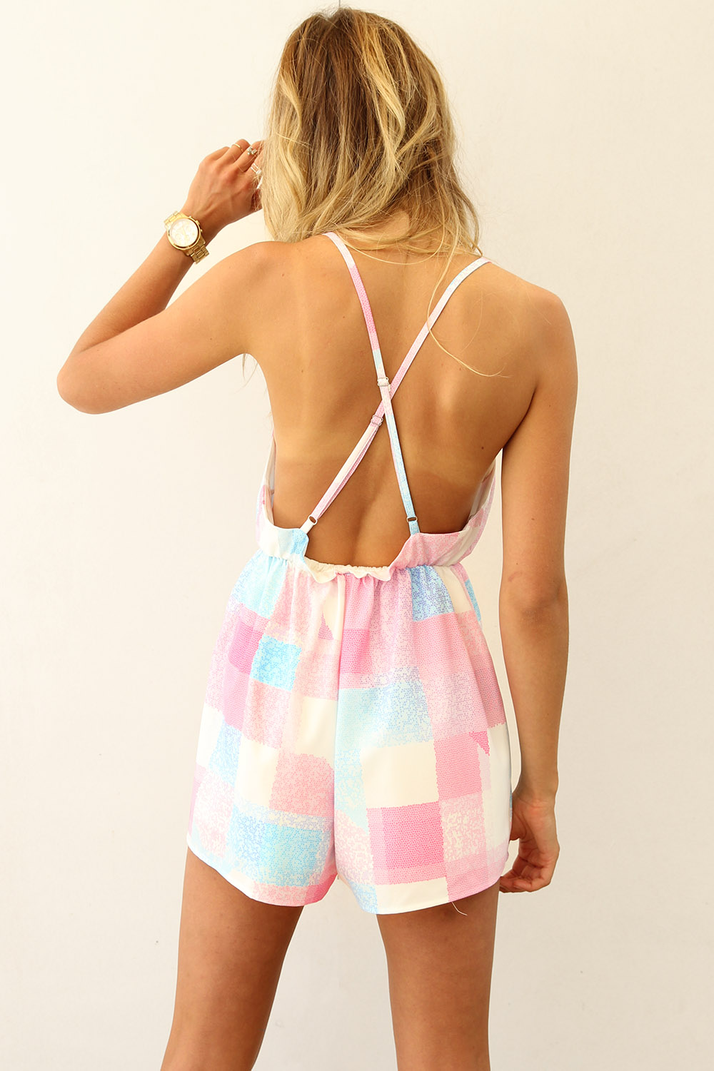 Pastel Mosaic Playsuit | SABO SKIRT