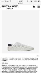 shoes,yvessaintlaurent,saint laurent,style,sneakers,leather