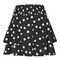 Shirred tiered spotted skirt - monochrome
