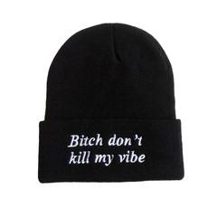 Bitch don't kill my vibe beanie – holypink