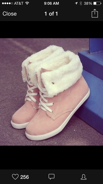 white fur boots suede boots beige