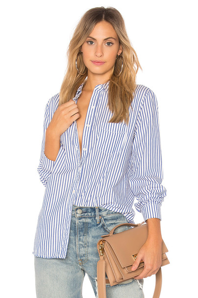 Stateside shirt long sleeve shirt long blue top