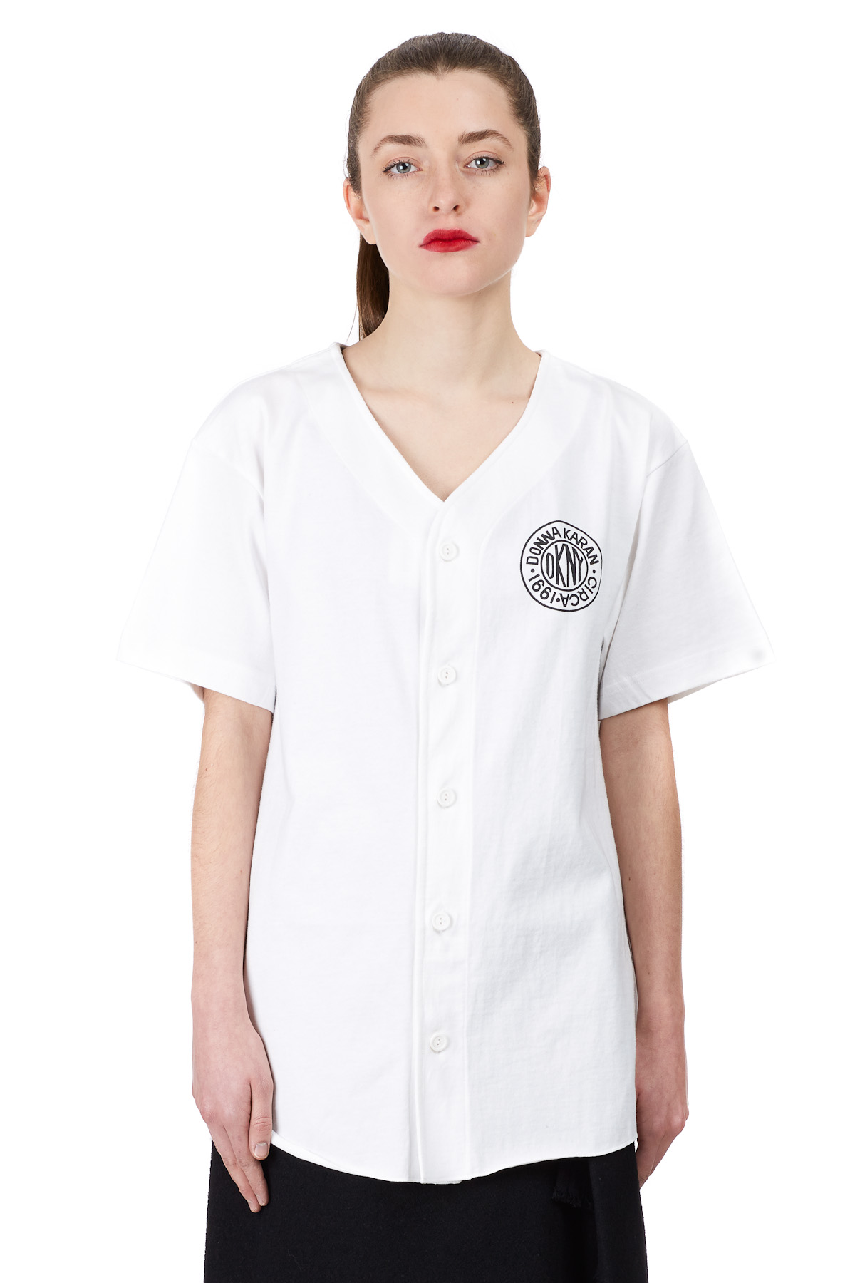 DKNY for Opening Ceremony DKNY Token Logo Baseball Shirt - WOMEN - DKNY for Opening Ceremony